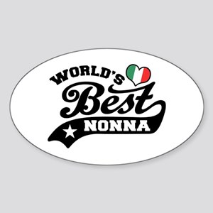 World's Best Nonna Sticker (Oval)